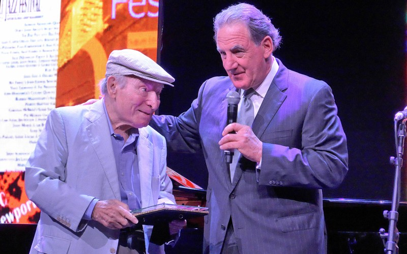 George-Wein-+-Michael-Lazaroff---Jazz-Cruise-2015